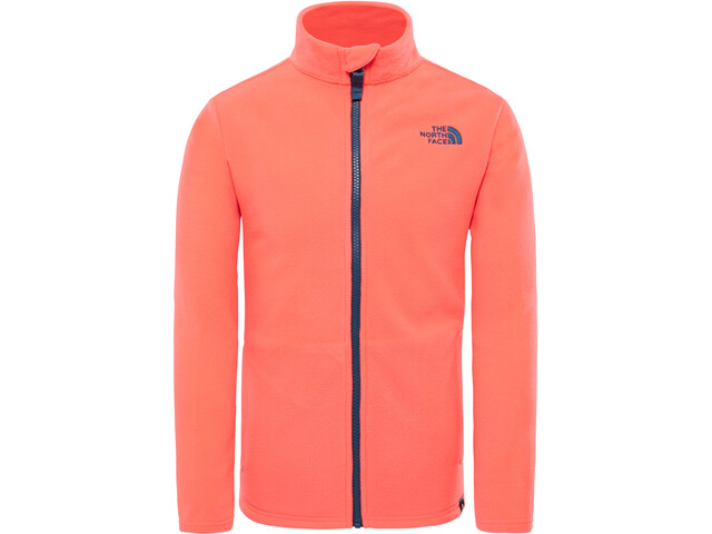 The North Face Snow Quest Full-Zip Roundneck Jacket Kids rocket red